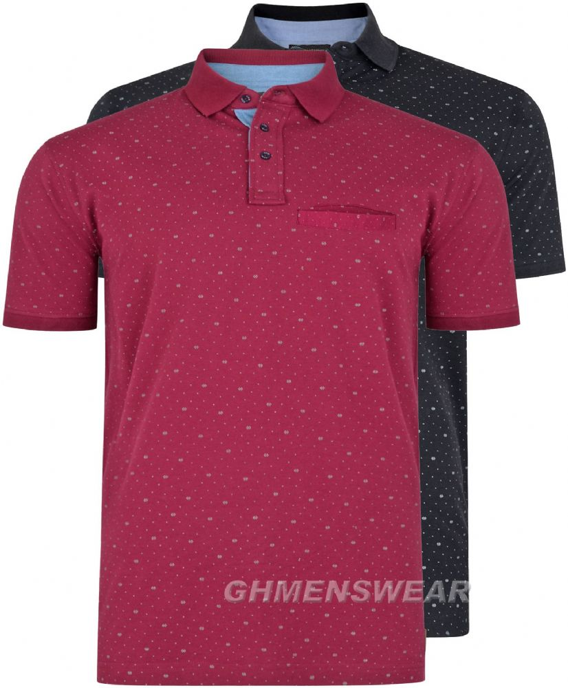 KAM Patterned Polo
